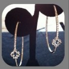 Presley Pave Clover Hoops Mini