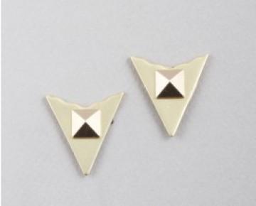 Ziggy Triangle Pyramid Studs Silver
