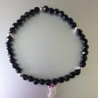 Sasha Sterling Pave Leaf Bracelet Black
