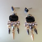 Samantha Statement Black Drop Earring