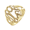Sasha Sterling Gold Plated Monogram Ring