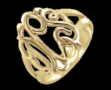 Sasha Sterling Gold Plated Monogram Ring