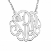 Sasha Sterling Gold Plated Large Monogram