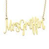 "Sasha Sterling ""Mrs"" Necklace"