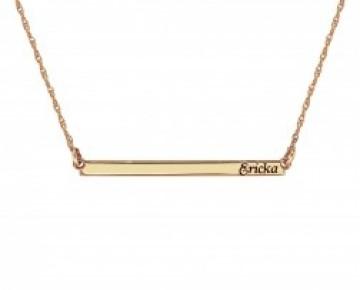 Sasha Sterling Gold Plated Monogram Bar Necklace