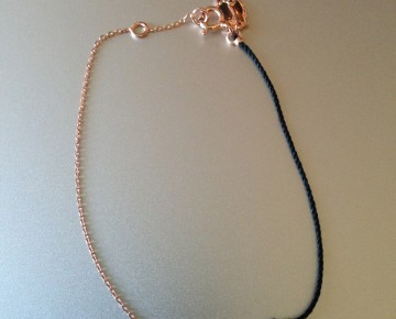 Samantha Sterling Rose Gold Wing String and Chain Bracelet