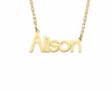 Sasha Sterling Name Necklace