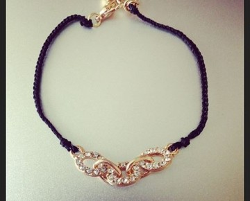 Lilly Pave Chainlink Bracelet Black