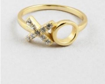 Sasha Sterling XO Ring Gold