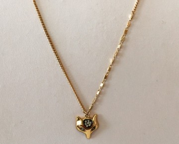 Sasha Sterling Fox Necklace Gold