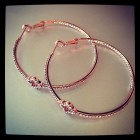 Presley Pave Clover Hoops Rose Gold Large