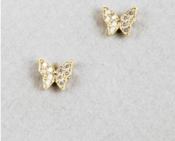 Sasha Sterling Butterfly Studs Gold