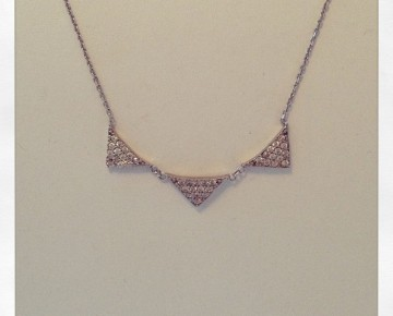 Sasha Sterling Triple Triangle Necklace Silver