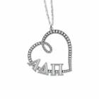 Sasha Sterling Sorority Necklace Heart