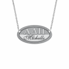 Sasha Sterling Sorority Necklace with Name