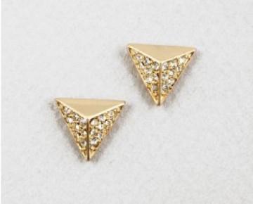 Sasha Sterling Triangle Studs Gold