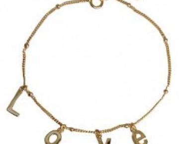 Sasha Sterling Love Charm Bracelet Gold