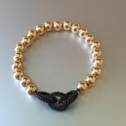 Abby Beaded Sterling Pave Chainlink Black