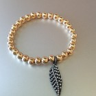 Abby Beaded Sterling Pave Feather
