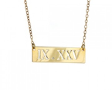 Sasha Sterling Roman Numeral Necklace