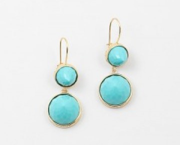 Abby Double Stone Earring Turquoise
