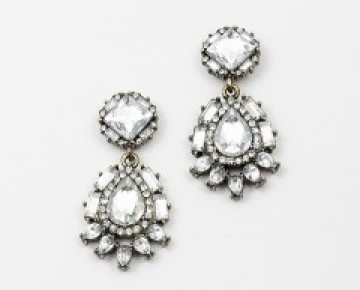 Samantha Statement Earring Clear