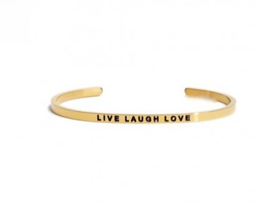 Abby Quotation Cuff LIVE LAUGH LOVE