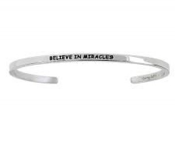 Abby Quotation Cuff BELIEVE IN MIRACLES