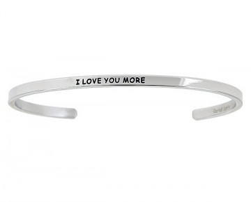 Abby Quotation Cuff I LOVE YOU MORE