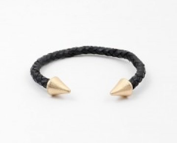 Abby Pointed Cuff Gold and Black