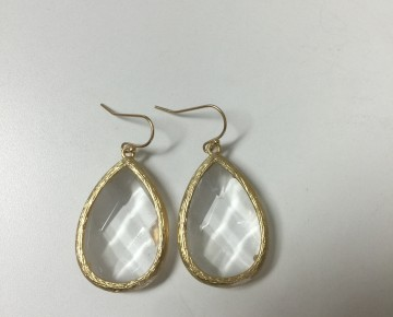 Lisa Lucite Stone Drop Earring