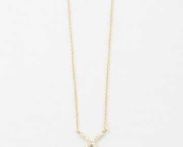 Sasha Sterling Pave X Necklace Gold