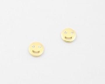 Sasha Sterling Emoji Stud Gold