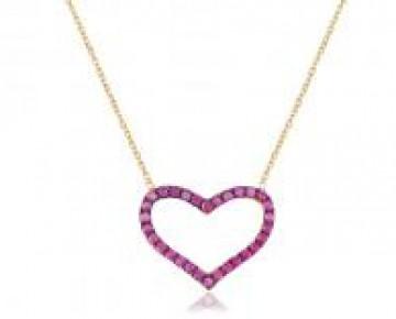 Sasha Sterling Pink Pave Heart