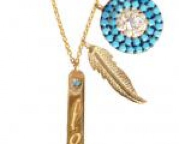 Sasha Sterling Turquoise Charm Necklace