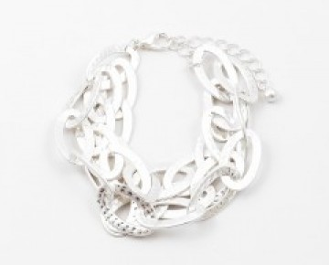 Charlie Chain Link Bracelet Silver