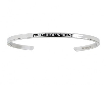 Abby Quotation Cuff YOU ARE MY SUNSHINE