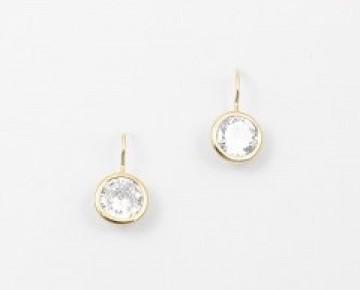 Sasha Sterling Crystal Circle Drop Earring Clear