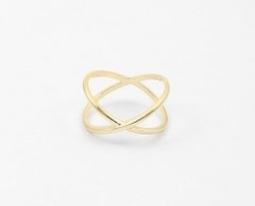 Sasha Sterling X Ring Gold