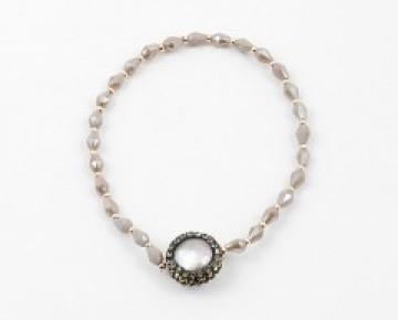 Abby Beaded Druzi Pearl Bracelet