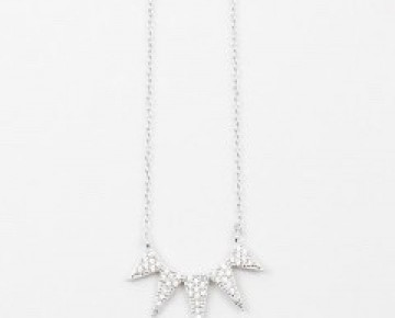 Sasha Sterling Multi Triangle Necklace Silver