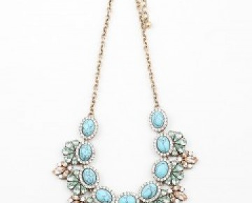 Samantha Statement Turquoise Floral Necklace