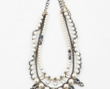 Samantha Statement Pearl and Stone Necklace