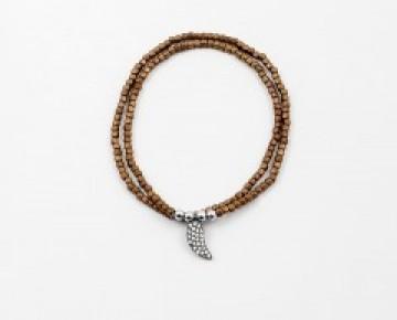 Abby Beaded Boho Bracelet Bronze Wrap