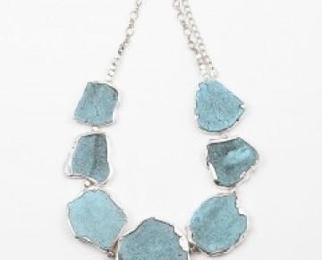 Samantha Statement Sliced Stone Turquoise