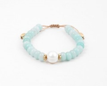 Abby Beaded Boho Bracelet with Pearl
