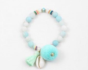 Abby Beaded Boho Bracelet Beach Blue
