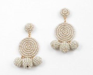 Abby Beaded Ball Drop Earring