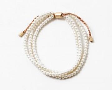 Abby Beaded Triple Pearl Bracelet