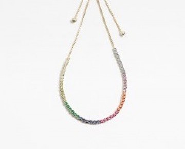 Sasha Sterling Rainbow Pave Stone Bracelet